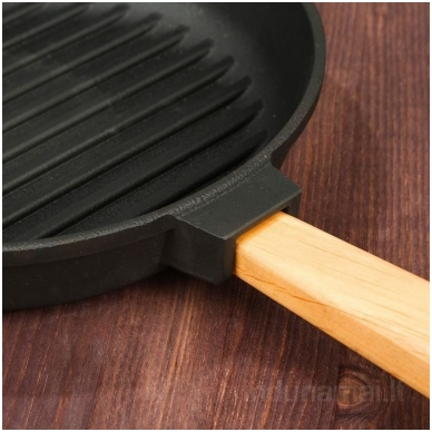 Ketaus grill keptuvė su nuimama rankena Brizoll 24cm 3