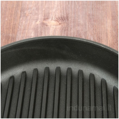 Ketaus grill keptuvė su nuimama rankena Brizoll 26cm 7