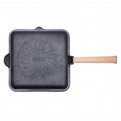 "Ketaus grill keptuvė su nuimama rankena Brizoll ""Optima"" 26 cm  2"