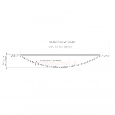 Ketaus keptuvė – dangtis (Sadž)  Brizoll 40 cm 10