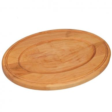 """Ketaus keptuvė su mediniu padėklu Brizoll """"HoReCa"""" 22x14 cm 3"""
