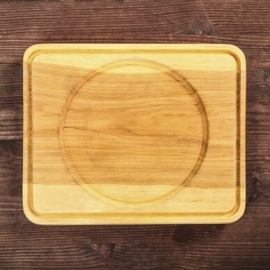 """Ketaus keptuvė su mediniu padėklu """"HoReCa"""" 14 cm 8"""