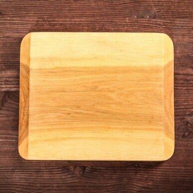 """Ketaus keptuvė su mediniu padėklu """"HoReCa"""" 16 cm 8"""