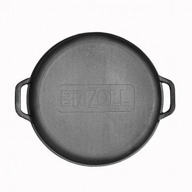 Totoriškas ketaus kazanas su dangčiu - Grill keptuve Brizoll 15l 4